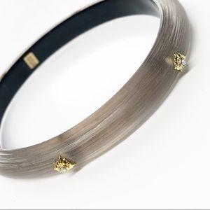 Alexis Bittar Taupe Swarovski Bangle Bracelet